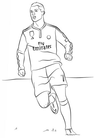 Cristiano Ronaldo colouring page | Christiano ronaldo, Desenho de...