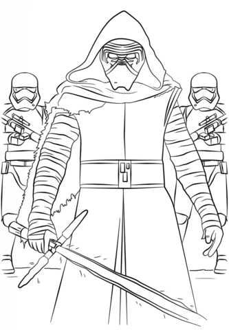 Coloriage Star Wars Kylo Ren : coloriage, First, Order, Stormtroopers, Coloring, Printable, Pages