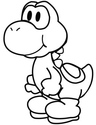 Yoshi Printable : yoshi, printable, Yoshi, Coloring, Printable, Pages