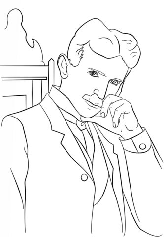 Tesla Coloring Pages : tesla, coloring, pages, Nikola, Tesla, Coloring, Printable, Pages