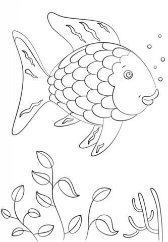 How To Draw A Rainbow Fish : rainbow, Rainbow, Coloring, Printable, Pages