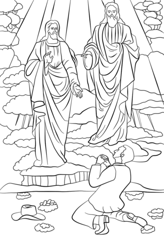 Joseph Smith First Vision Coloring Page : joseph, smith, first, vision, coloring, Joseph, Smith, First, Vision, Coloring, Printable, Pages