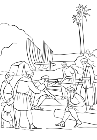 Nephi Coloring Page : nephi, coloring, Nephi, Builds, Coloring, Printable, Pages