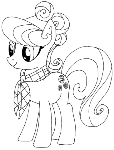 Printable Pony Coloring Pages : printable, coloring, pages, Little, Coloring, Pages