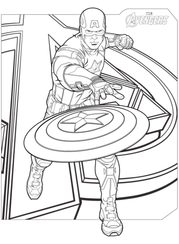 Avengers Printable Coloring Pages : avengers, printable, coloring, pages, Avengers, Captain, America, Coloring, Printable, Pages
