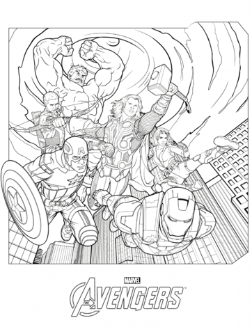 Avengers Printable Coloring Pages : avengers, printable, coloring, pages, Marvel, Avengers, Coloring, Printable, Pages