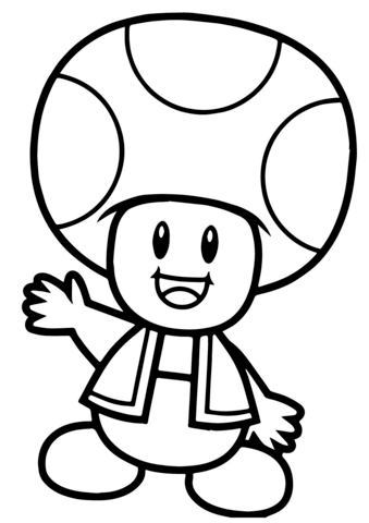 Toad Coloring Pages : coloring, pages, Super, Mario, Bros., Coloring, Printable, Pages