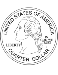 Quarter Coin coloring page Free Printable Coloring Pages