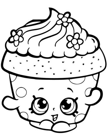 Cupcake Shopkin Kleurplaat  Gratis Kleurplaten Printen