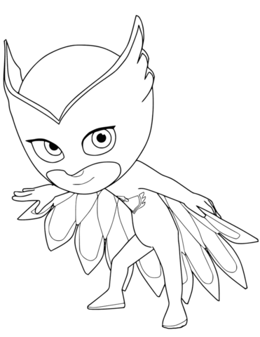 Pj Masks Coloring Pages Black And White : masks, coloring, pages, black, white, Owlette, Masks, Coloring, Printable, Pages