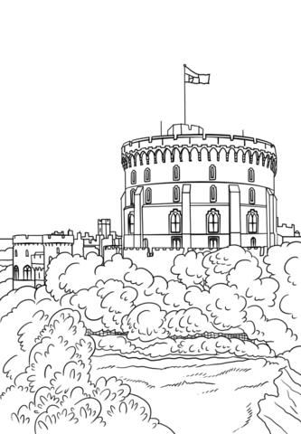 Hogwarts Castle Coloring Pages : hogwarts, castle, coloring, pages, Windsor, Castle, Coloring, Printable, Pages