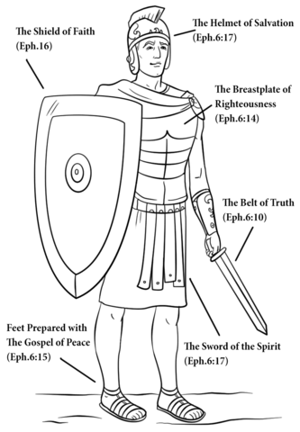 Armor Of God Coloring Sheet : armor, coloring, sheet, Armour, Coloring, Printable, Pages