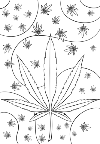Weed Colouring Pages : colouring, pages, Psychedelic, Coloring, Printable, Pages