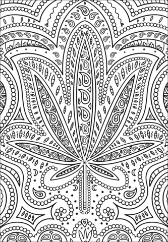 Weed Colouring Pages : colouring, pages, Trippy, Coloring, Printable, Pages