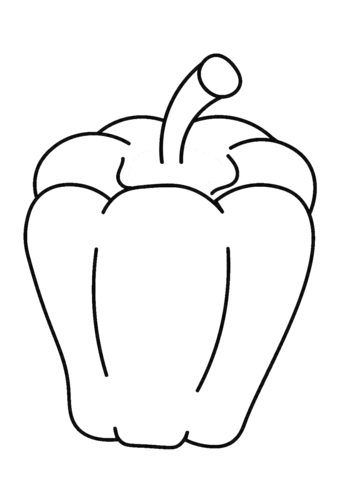 Pepper Coloring Page : pepper, coloring, Sweet, Pepper, Coloring, Printable, Pages