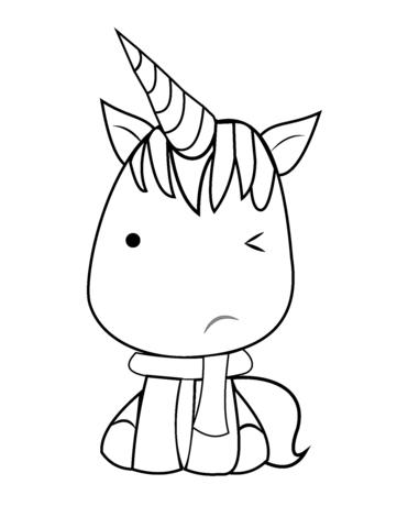 Unicorn Kawaii Coloring Pages : unicorn, kawaii, coloring, pages, Kawaii, Unicorn, Coloring, Printable, Pages