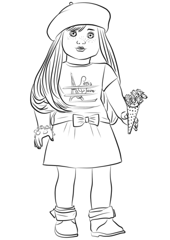 American Girl Doll Coloring Pages : american, coloring, pages, American, Coloring, Pages