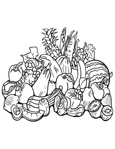 Fall Harvest Coloring Pages : harvest, coloring, pages, Harvest, Coloring, Printable, Pages