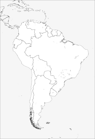 South America Coloring Page : south, america, coloring, South, America, Coloring, Printable, Pages
