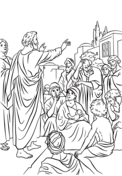 Peter And Cornelius Coloring Page : peter, cornelius, coloring, Peter, Meets, Cornelius, Coloring, Printable, Pages
