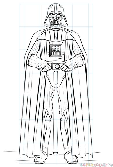 Darth Vader Outline : darth, vader, outline, Darth, Vader, Drawing, Tutorials