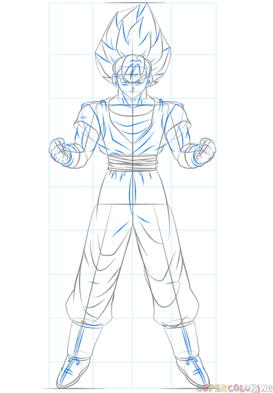 How To Draw Goku Super Saiyan 10000 : super, saiyan, 10000, Super, Saiyan, Drawing, Tutorials