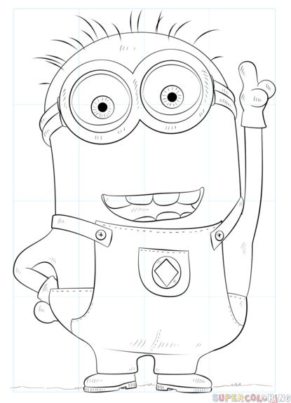Comment Dessiner Un Minion : comment, dessiner, minion, Comment, Dessiner, Minion, Dessin, Etape