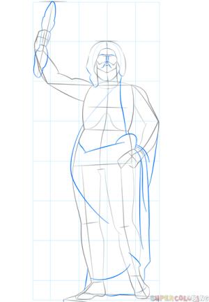 draw zeus god drawing greek step stick nose
