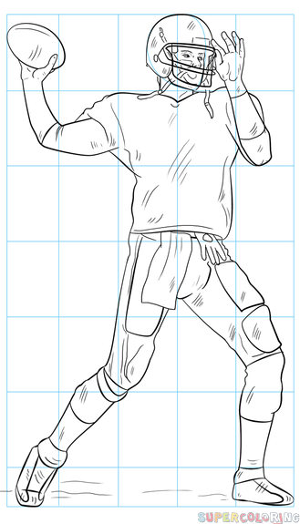 Football Player Drawing Easy : football, player, drawing, Football, Player, Drawing, Tutorials