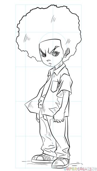 Boondocks Drawing Style : boondocks, drawing, style, Freeman, Drawing, Tutorials