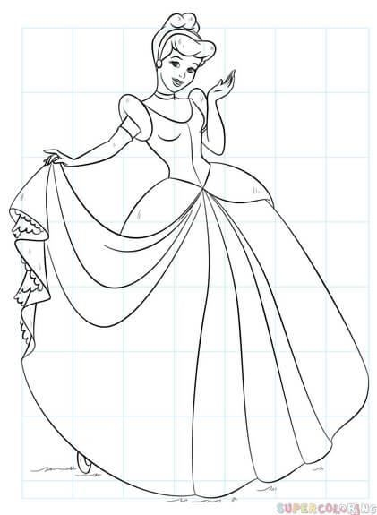 How To Draw Cinderella : cinderella, Cinderella, Drawing, Tutorials