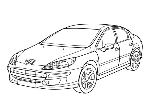 Peugeot Colouring Pages Sketch Coloring Page
