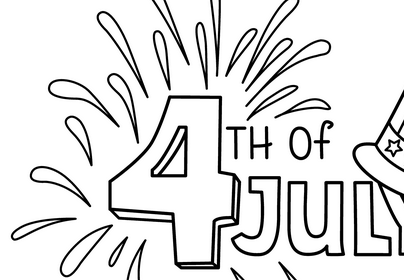 July 4 coloring pages, USA Independence day
