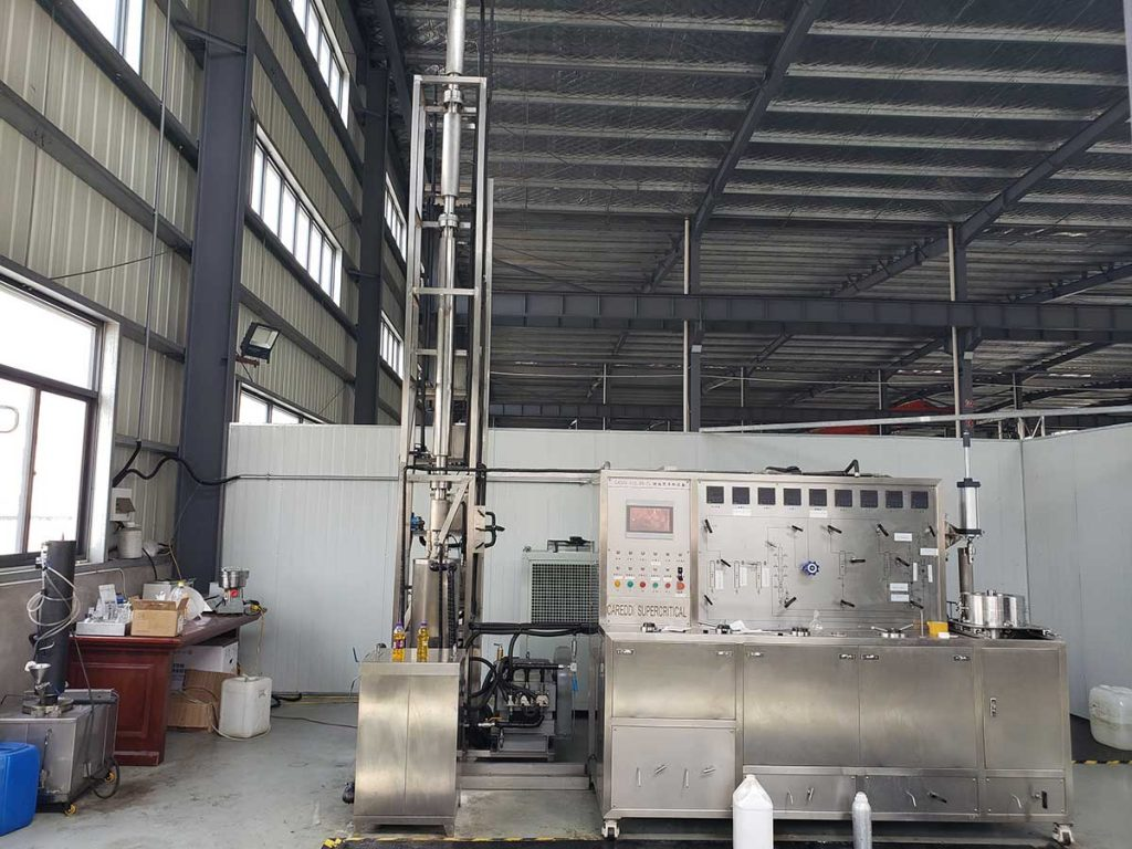 Supercritical CO2 extraction and fractionation equipment