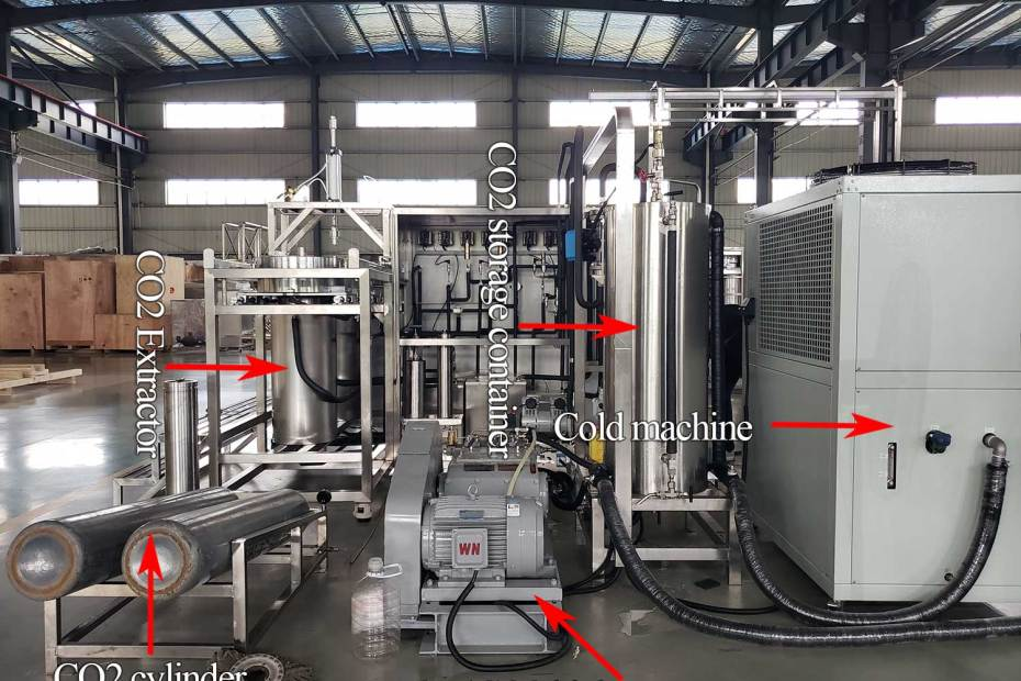 Parts identification drawing of supercritical carbon dioxide extraction machine