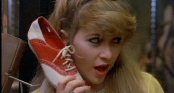 Hello, shoe? This is blonde...yes, I'll hold.