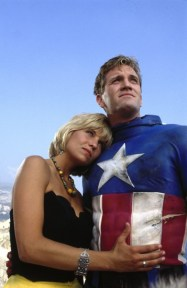 Kim Gillingham as Sharon Stewart, seen here copping a feel of Cap's delicious abs...for freedom.
