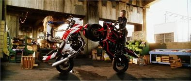 Motorcycle Karate. It's totally a thing.
