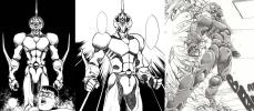 Three different Guyver models from the Manga