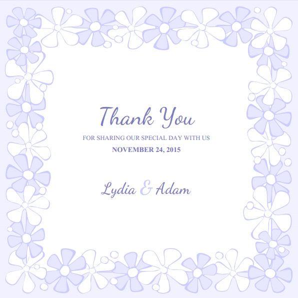 Thank You Card Templates For Word DIY Printable Wedding Thank You – Thank You Card Template Wedding