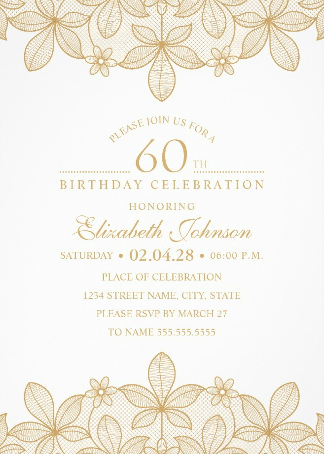 golden lace 60th birthday