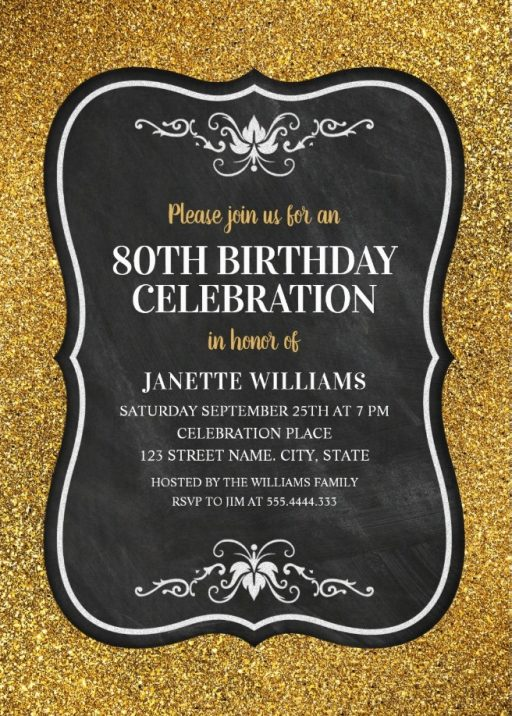 Luxury 80th Birthday Invitations Archives Superdazzle