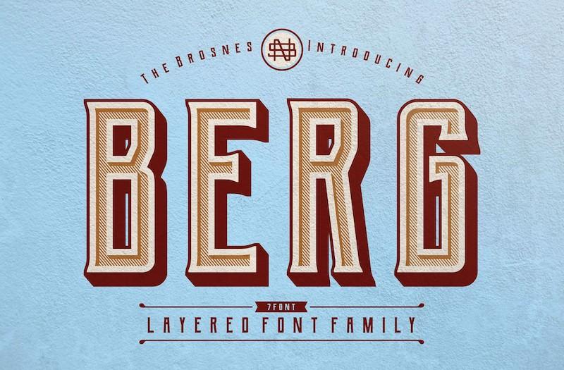 monogram style font