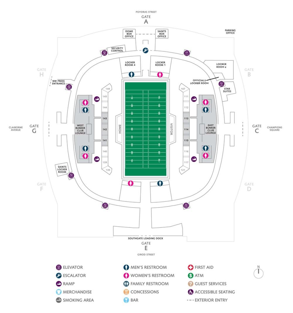 medium resolution of football seating charts