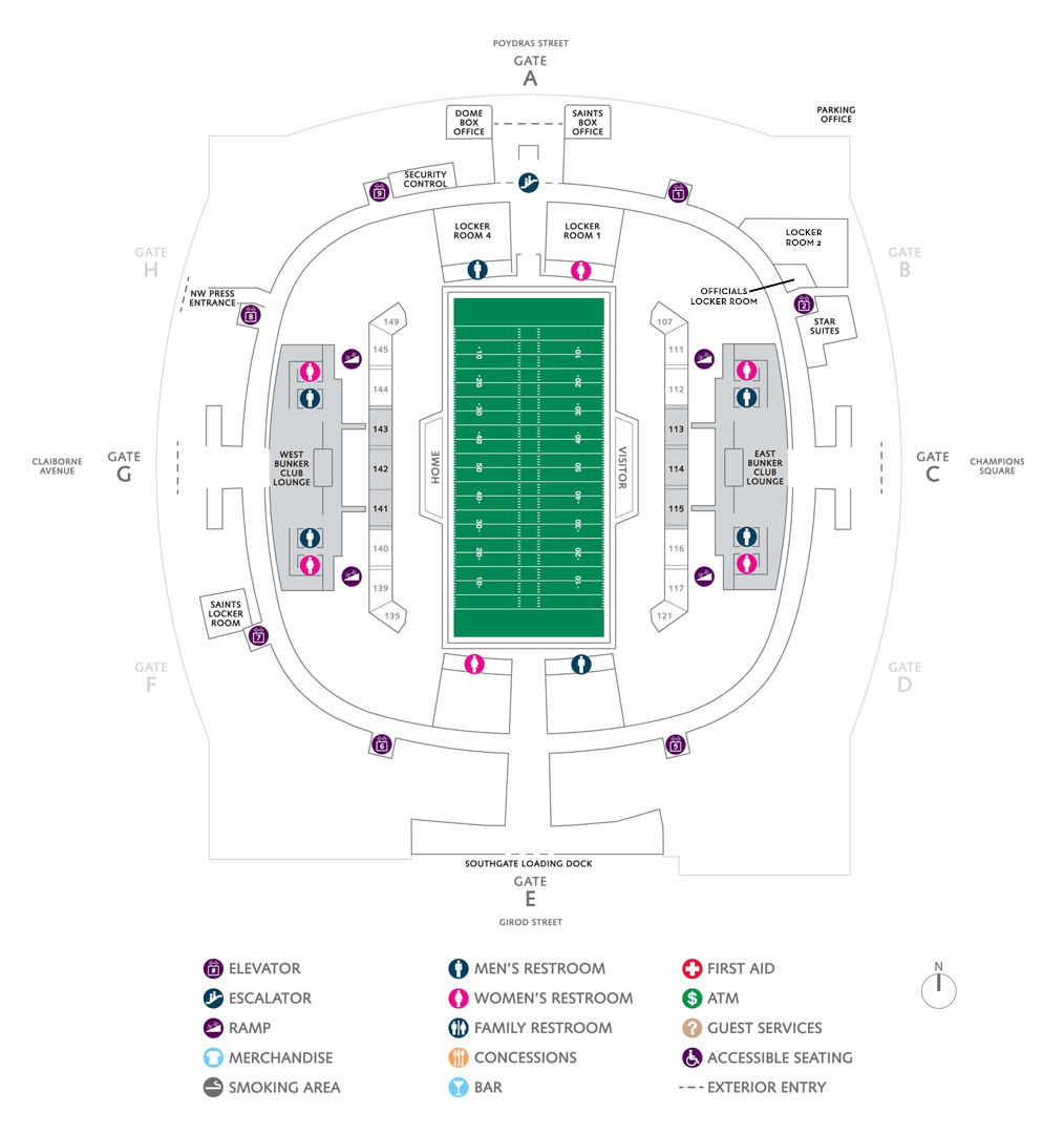 hight resolution of football seating charts