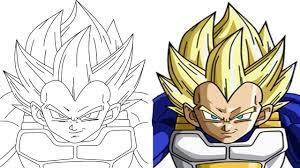 7 Imagens De Vegeta Para Pintar E Colorir Super Dragon Ball