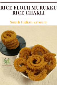 Rice murukku / Rice chakli_pin