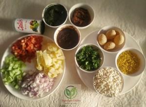 Bhel puri / poori_ingredients