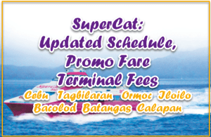 SuperCat: Updated Schedule, Promo Fare and Terminal Fees