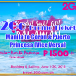 2Go Promo Ticket: Manila to Palawan and Vice Versa